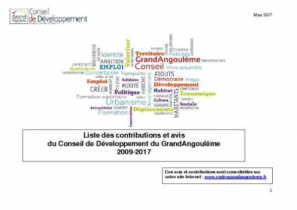 contributions synthèses CDD 2009-2017